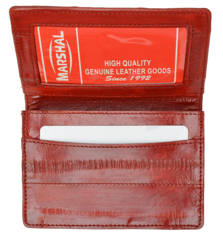 Wallet - Genuine Eel Skin Business Card Holder - WholesaleLeatherSupplier.com  - 22