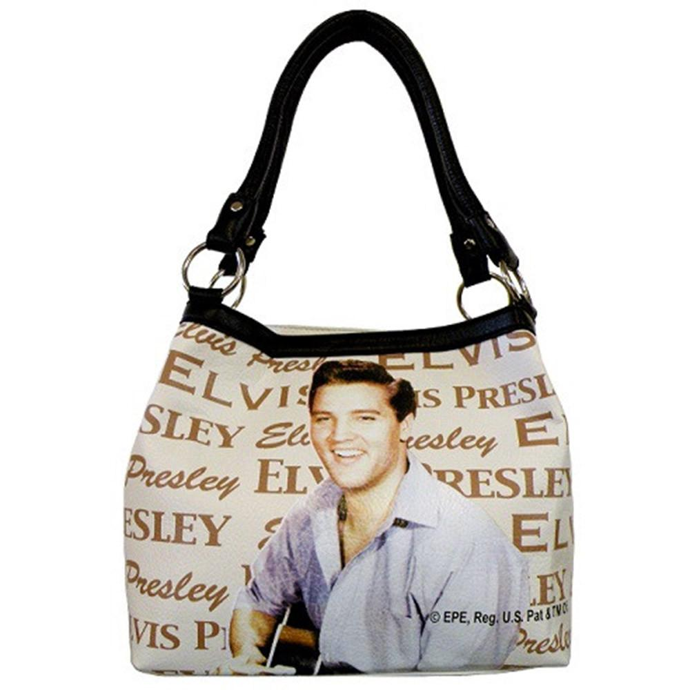 Licensed Elvis Presley Beige Medium Tote