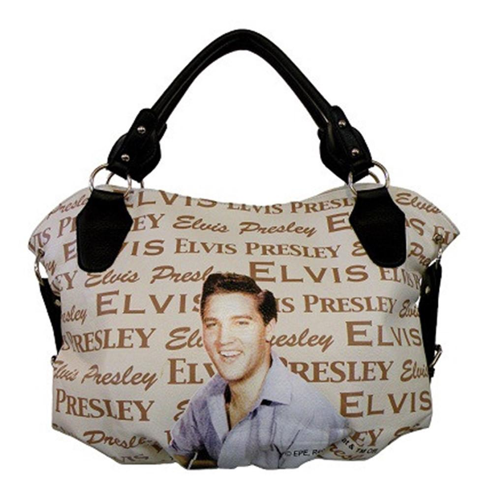 Licensed Elvis Presley Beige Handbag