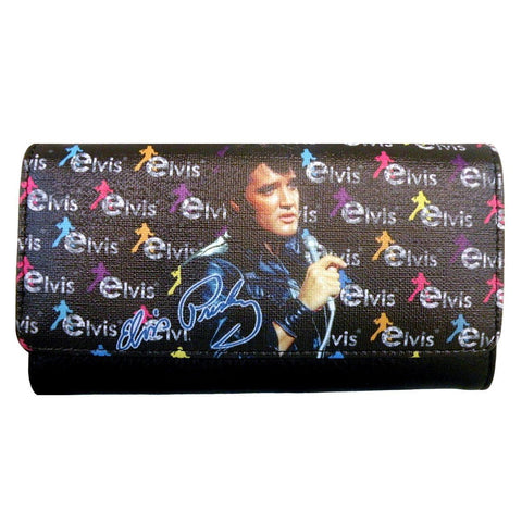 Licensed Black with Colors Elvis Presley Wallet