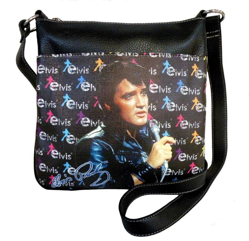 Licensed Elvis Presley Crossbody Bag - Black Jacket with Microphone
