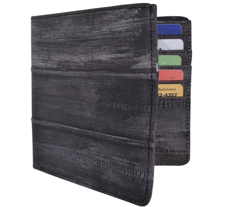 Waterproof Eel Skin Bifold Leather