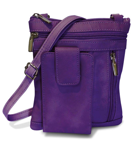 Genuine Leather On-the-Go Cross-Body - 8 Colors