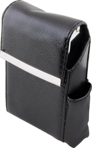 Genuine Leather Brown Fliptop Cigarette Case - WholesaleLeatherSupplier.com  - 4