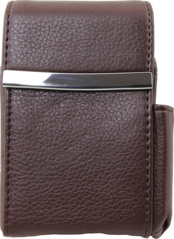 Genuine Leather Brown Fliptop Cigarette Case - WholesaleLeatherSupplier.com  - 13