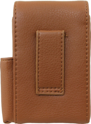 Genuine Leather Brown Fliptop Cigarette Case