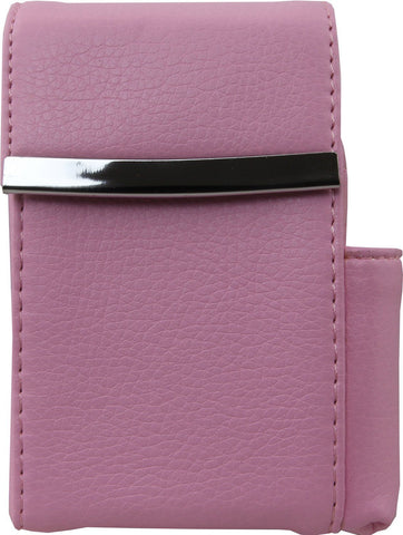 Genuine Leather Hot Pink Fliptop Cigarette Case - WholesaleLeatherSupplier.com  - 7
