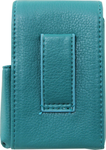 Genuine Leather Turquoise Fliptop Cigarette Case
