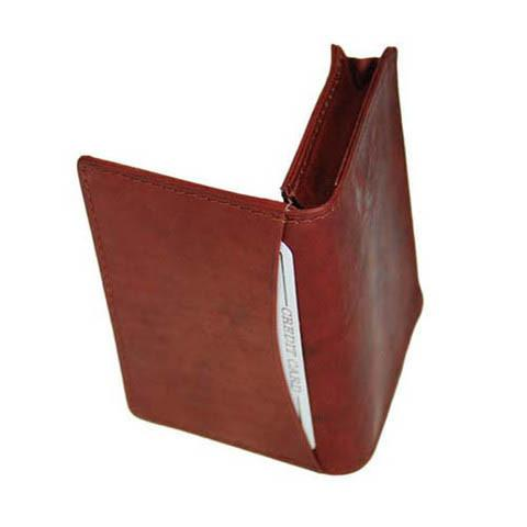Men's Genuine Leather Bi-Fold Wallet Supplier - Tan