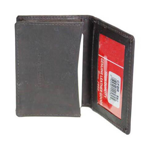 Men's Genuine Leather Bi-Fold Wallet Supplier - Burgundy