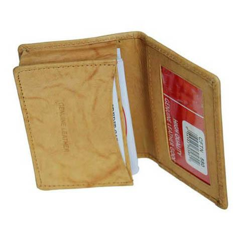 Men's Genuine Leather Bi-Fold Wallet Supplier - Tan - WholesaleLeatherSupplier.com  - 1