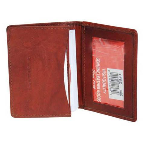 Men's Genuine Leather Bi-Fold Wallet Supplier - Brown