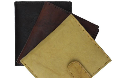 Unisex Genuine Leather Bi-fold Credit Card Wallet - WholesaleLeatherSupplier.com  - 4