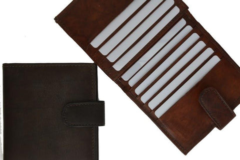 Unisex Genuine Leather Bi-fold Credit Card Wallet - WholesaleLeatherSupplier.com  - 7