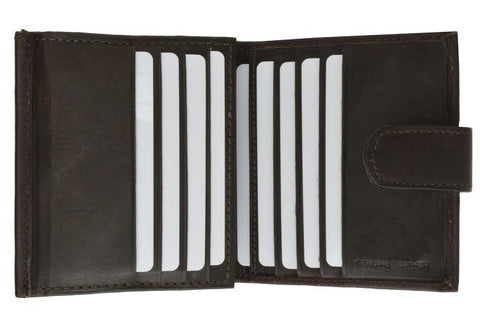 Unisex Genuine Leather Bi-fold Credit Card Wallet - WholesaleLeatherSupplier.com  - 2