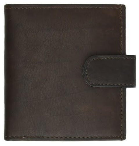 Unisex Genuine Leather Bi-fold Credit Card Wallet