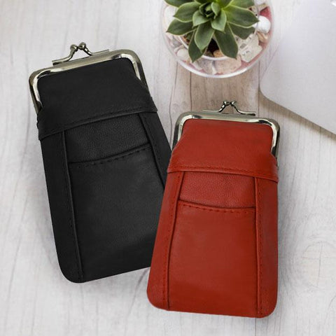 Adorable 2 Set Genuine Leather Cigarette Cases