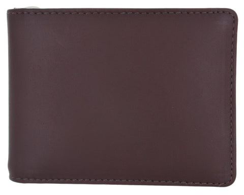 AFONiE Genuine Leather Bi-fold Money Clip Wallet