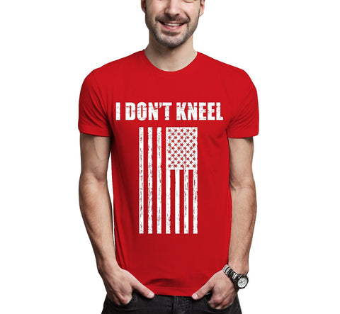 USA TRUMP I DON'T KNEEL FLAG RESPECT