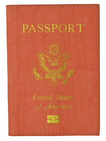 Soft Leather USA Logo Passport Cover Holder - WholesaleLeatherSupplier.com  - 7