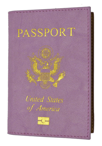 Soft Leather USA Logo Passport Cover Holder - WholesaleLeatherSupplier.com  - 10