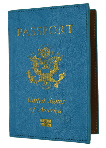 Soft Leather USA Logo Passport Cover Holder - WholesaleLeatherSupplier.com  - 4