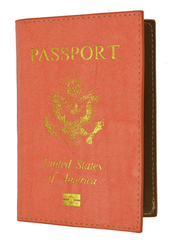 Soft Leather USA Logo Passport Cover Holder - WholesaleLeatherSupplier.com  - 8