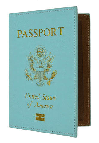 Soft Leather USA Logo Passport Cover Holder - WholesaleLeatherSupplier.com  - 12