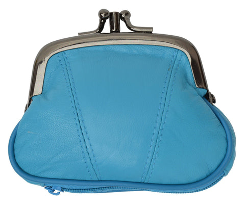 Wallet - Colors and Style Classic Leather Change Purse - WholesaleLeatherSupplier.com  - 9
