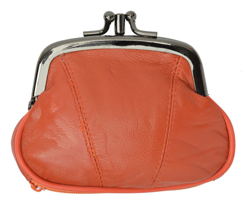 Wallet - Colors and Style Classic Leather Change Purse - WholesaleLeatherSupplier.com  - 11