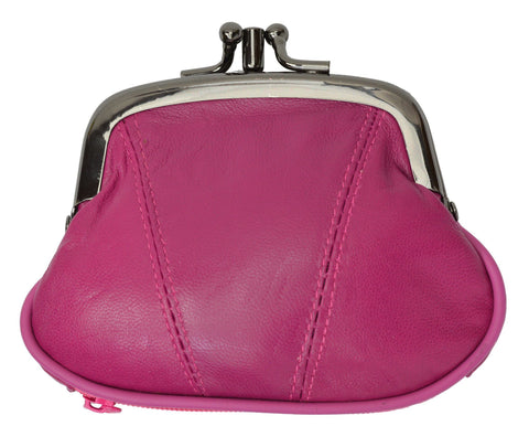 Wallet - Colors and Style Classic Leather Change Purse - WholesaleLeatherSupplier.com  - 12