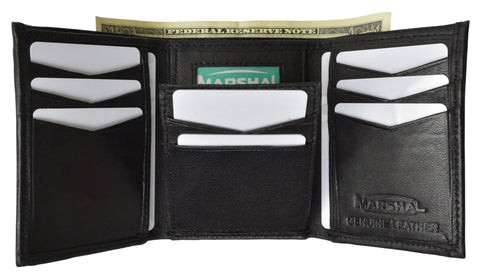 Men's Genuine Leather Trifold Wallet