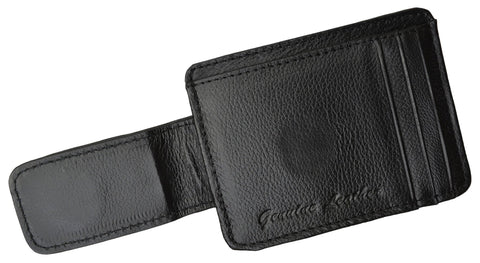 Luxurious Genuine Leather Magnetic Money Clip - WholesaleLeatherSupplier.com  - 5
