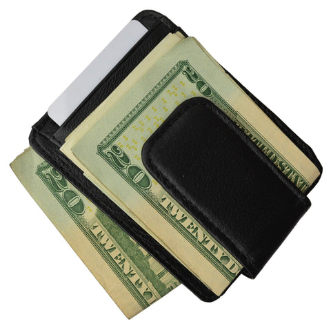 Luxurious Genuine Leather Magnetic Money Clip - WholesaleLeatherSupplier.com  - 6