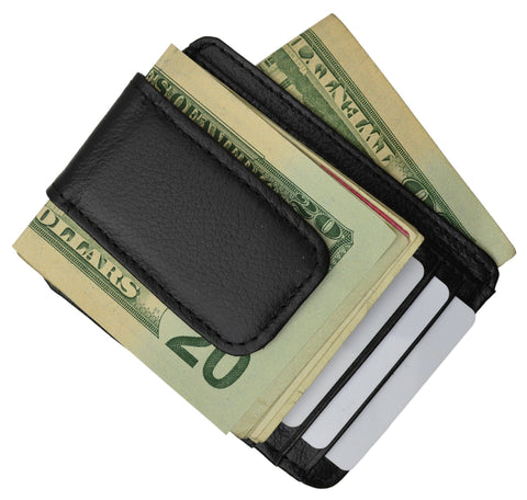 Luxurious Genuine Leather Magnetic Money Clip - WholesaleLeatherSupplier.com  - 4