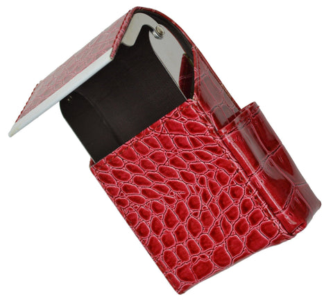 Unisex Croco-Textured Genuine Leather Flip-Top Wallet - WholesaleLeatherSupplier.com  - 5