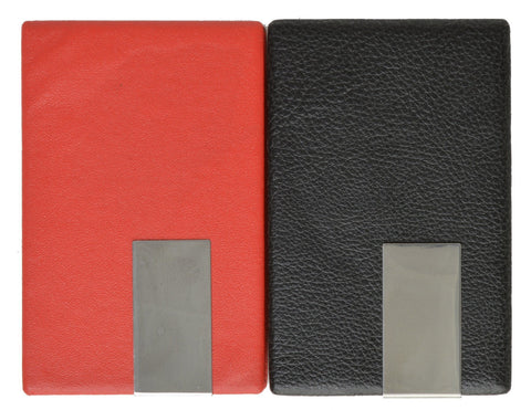 Vegan Leather Credit Card Holder with Magnetic Closure