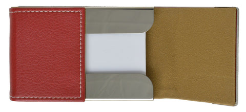 Faux Leather Business Card Holder - WholesaleLeatherSupplier.com  - 7