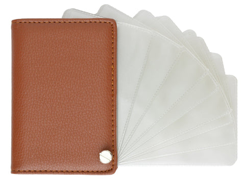 Genuine Leather Flip out Credit Card Holder