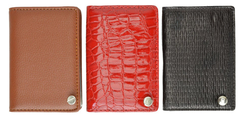 Genuine Leather Flip out Credit Card Holder - WholesaleLeatherSupplier.com  - 7