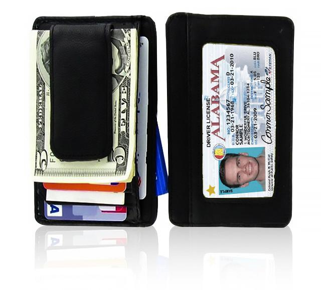 Genuine Leather Magnetic Money Clip
