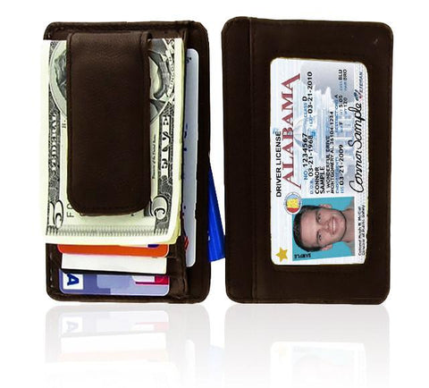 Genuine Leather Magnetic Money Clip - WholesaleLeatherSupplier.com  - 3