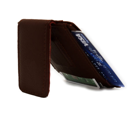 Genuine Leather Magnetic Money Clip - WholesaleLeatherSupplier.com  - 6