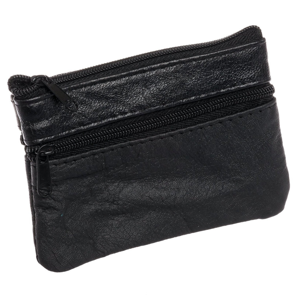 Leather Change Purse with Key Ring