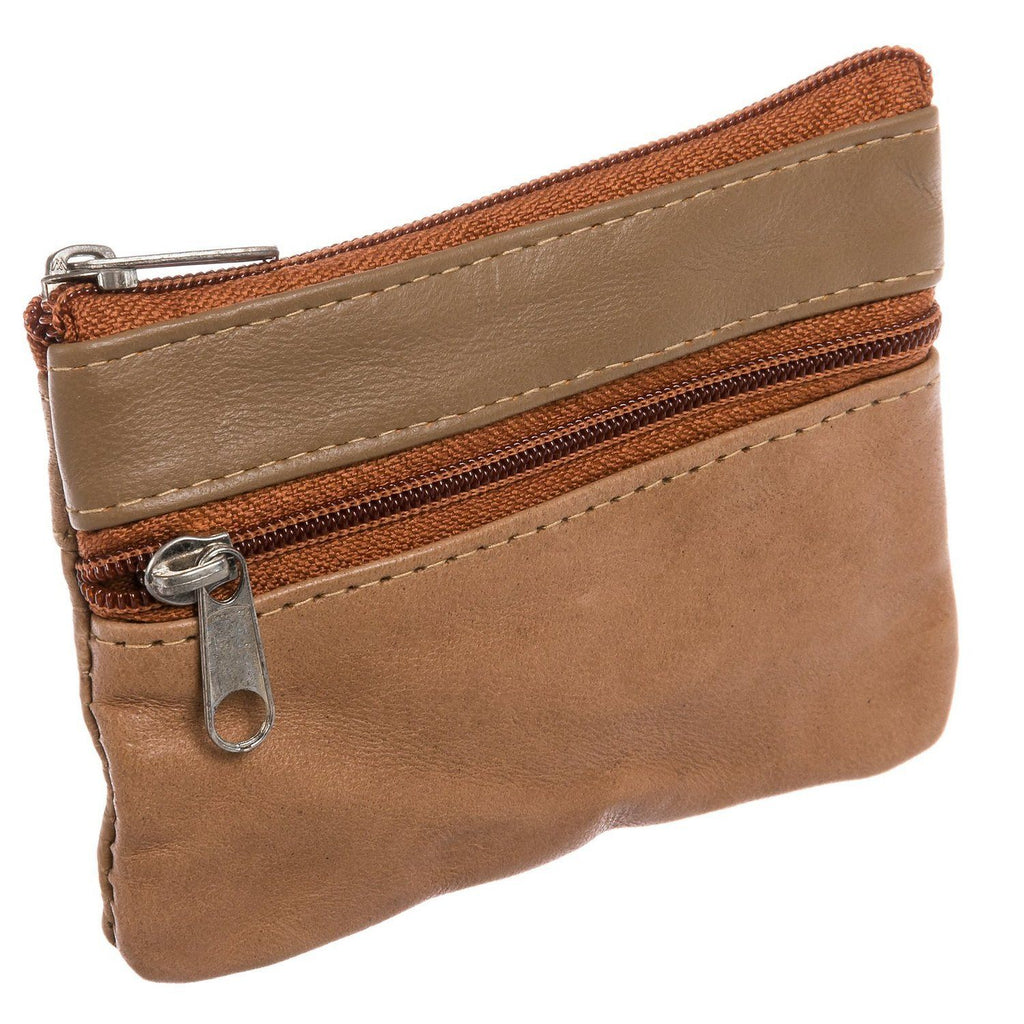 Leather Change Purse w/ Key Ring - WholesaleLeatherSupplier.com  - 1