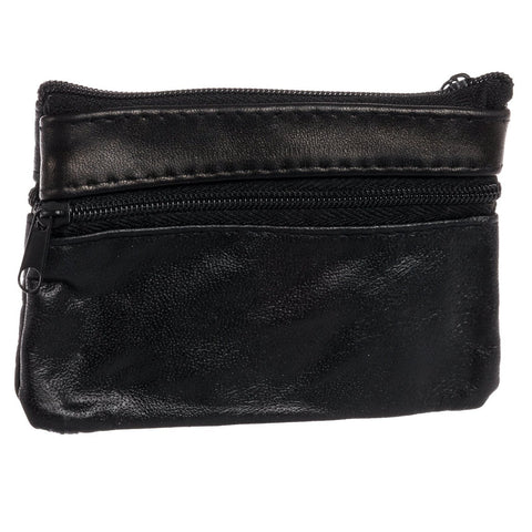 Leather Change Purse w/ Key Ring - WholesaleLeatherSupplier.com  - 19