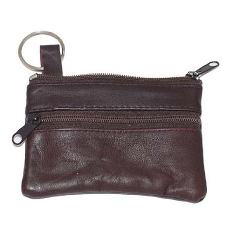 Leather Change Purse w/ Key Ring - WholesaleLeatherSupplier.com  - 21