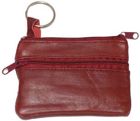 Leather Change Purse w/ Key Ring - WholesaleLeatherSupplier.com  - 6