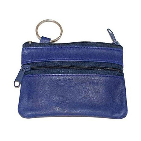 Leather Change Purse w/ Key Ring - WholesaleLeatherSupplier.com  - 4