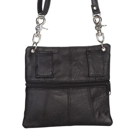Leather Black Multiple Belt Bag - WholesaleLeatherSupplier.com  - 5